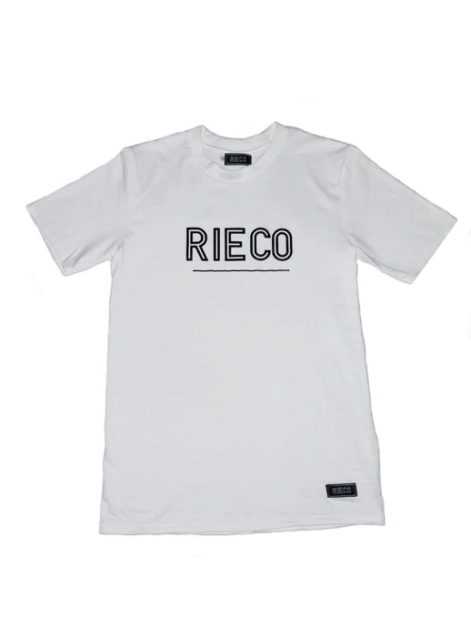 Rieco NS T-Shirt White/Black - Rieco Clothing