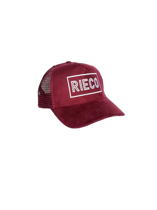 Suede Mesh Trucker Burgundy/White - Rieco Clothing