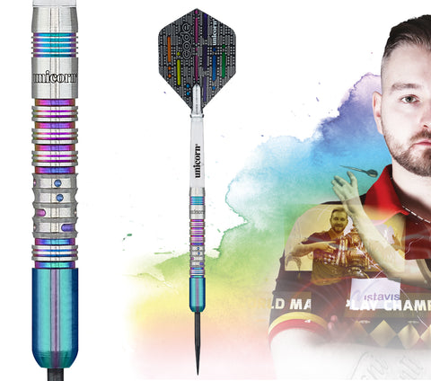 "Unicorn ""The Dreammaker"" Dimitri van den Bergh Code Players Steeldart Signature Darts Steeltip"