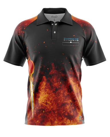 Firestorm Darts Shirt by Froops x Sapphiredarts Dart Shirt