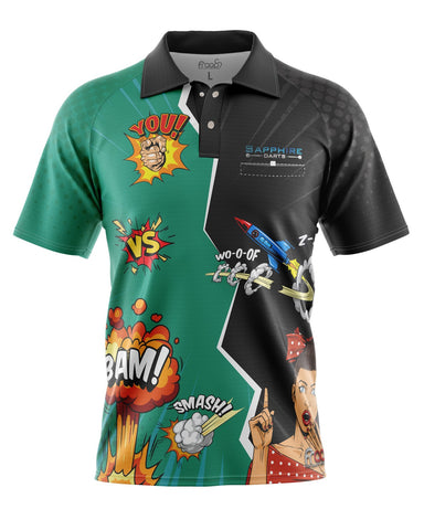 Koszula Comic Darts by Froops x Sapphiredarts Dart Shirt