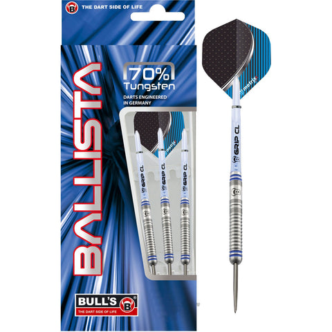 BULL'S Ballista Steeldart with straight barrel and made of 70% tungsten