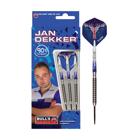 "BULL'S "" Double-Dekker "" Jan Dekker Steeldart Signature Player Darts 22g Steeltip"