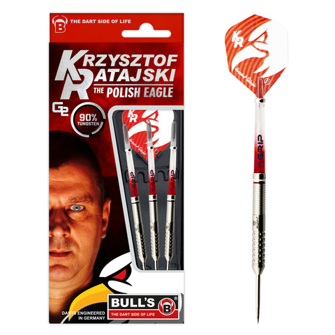 "BULL'S ""Polish Eagle"" Krzysztof Ratajski Generation II Steeldart Signature Player Darts 22g Steeltip"