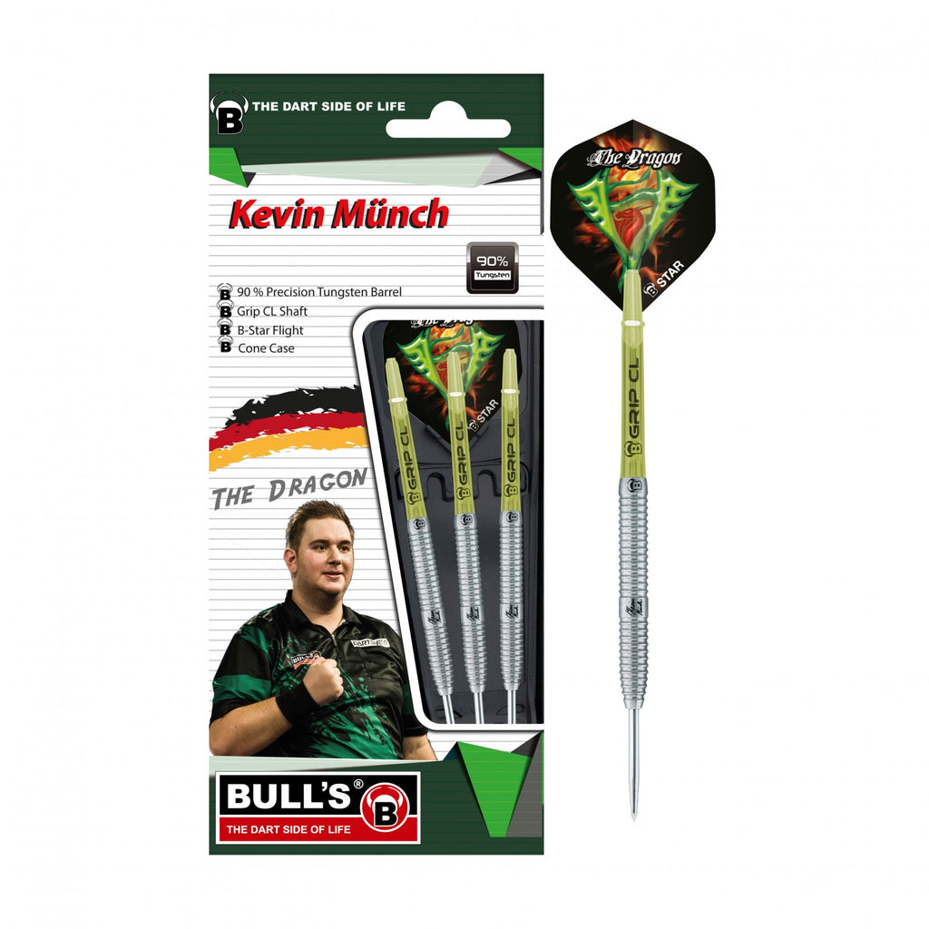 "BULL'S ""The Dragon"" Kevin Münch Champions Generation II Steeldart Signature Player Darts 21g Steeltip"
