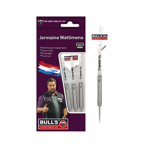 "BULL'S ""The Machine Gun"" Jermaine Wattimena Champions Steeldart Signature Player Darts Steeltip"