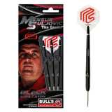 "BULL'S ""The Gentle"" Mensur Suljovic Black-Edition Steeldart Signature Darts Steeltip"