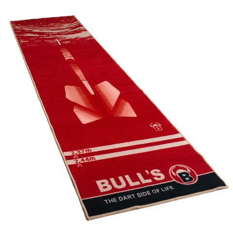 "BULL'S Carpet-Mat ""180"" red dart carpet mat"
