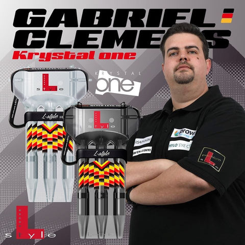 L-Style Krystal One German Giant Case für L-Flights Darts Signature Gabriel Clemens