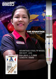 "One80 ""The Advantage"" Angelyn v. Detablan Player Darts 18g Softdart Softtip"