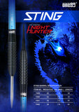 One80 Steeldart Night Hunter - Sting - Barrels 90% Tungsten Wolfram Steeltip