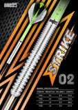 One80 Softdart Strike 02 mit geraden Barrels aus 80% Tungsten Wolfram Softtip