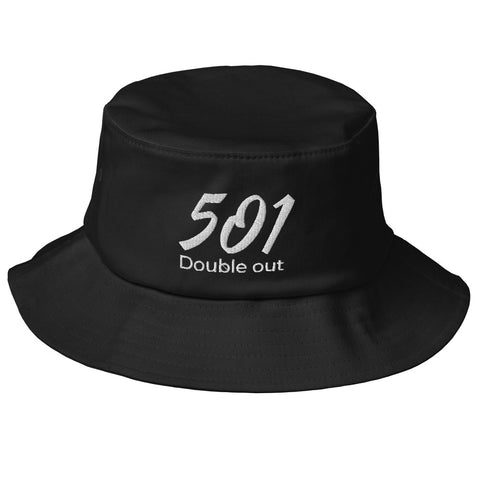 Old School-Fischerhut Bucket-Hat Schlapphut Mütze 501 DO Stickerei
