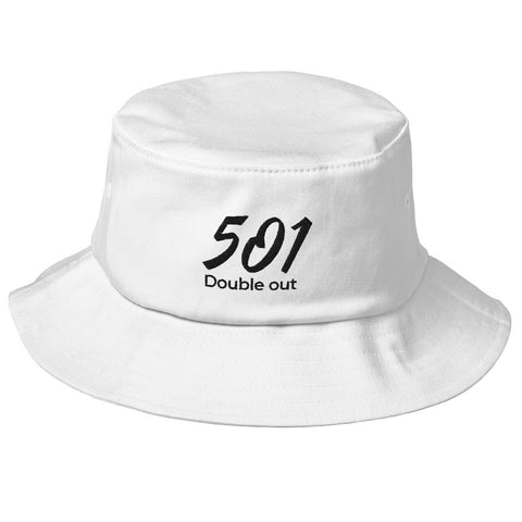 Old School-Fischerhut Bucket-Hat Schlapphut Mütze 501 DO Stickerei schwarz