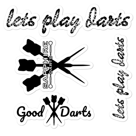Blasenfreie Gestanzte Aufkleber Sticker lets play good darts