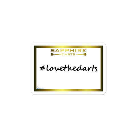 Die-cut sticker sticker #lovethedarts