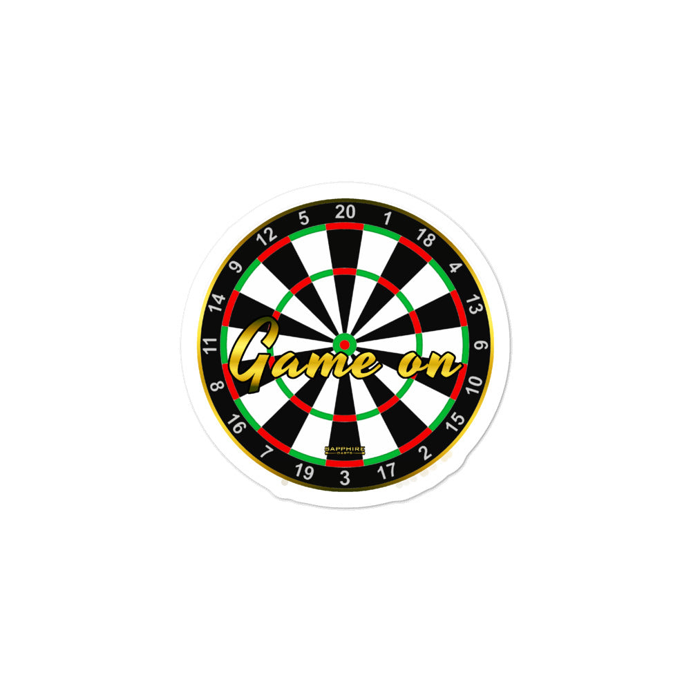 Gestanzte Aufkleber Sticker Game On Dartsboard