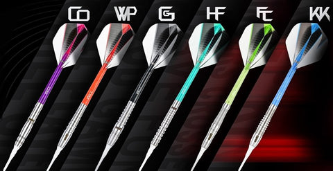 One80 Softdart Raise mit Barrels aus 80% Tungsten Wolfram Softtip