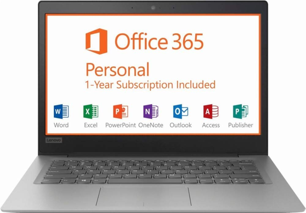 Lenovo Ideapad 14-inch Premium Performance Laptop (2019),Intel Celeron Dual-Core Processor up to 2.40 GHz, 2GB RAM, 32GB eMMC, Webcam, HDMI, 802.11ac, Win 10, Office 365 1-Year ($70 Value)