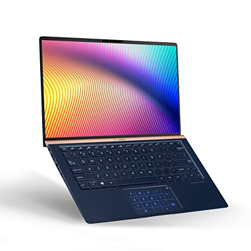 "ASUS ZenBook 13 Ultra-Slim Durable Laptop 13.3"" FHD Wideview, Intel Core i7-8565U Up to 4.6GHz, 16GB RAM, 512GB PCIe SSD + TPM Security Chip, Numberpad, Windows 10 Pro - UX333FA-AB77, Royal Blue"