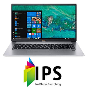 "Acer Swift 5 Thin & Lightweight Laptop 15.6"" FHD IPS Touch Display in a thin .23"" bezel, 8th Gen Intel Core i5-8265U, 8GB DDR4, 256GB PCIe NVMe SSD, Back-lit Keyboard, Windows 10 - SF515-51T-507P"