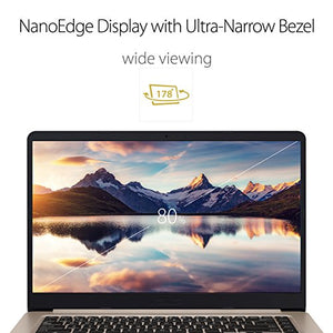 "ASUS VivoBook S Ultra Thin and Portable Laptop, Intel Core i7-8550U Processor, 8GB DDR4 RAM, 128GB SSD+1TB HDD, 15.6"" FHD WideView Display, ASUS NanoEdge Bezel, S510UA-DS71"