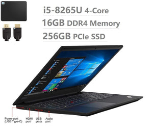 "2019 Lenovo ThinkPad E580 15.6"" Inch HD Business Laptop (Intel Core i5-7200U, 8GB DDR4 Memory, 256GB Samsung PCIe 3.0(x4) NVMe SSD M.2 SSD) Fingerprint, Type-C, HDMI, Ethernet, Webcam, Windows 10 Pro"