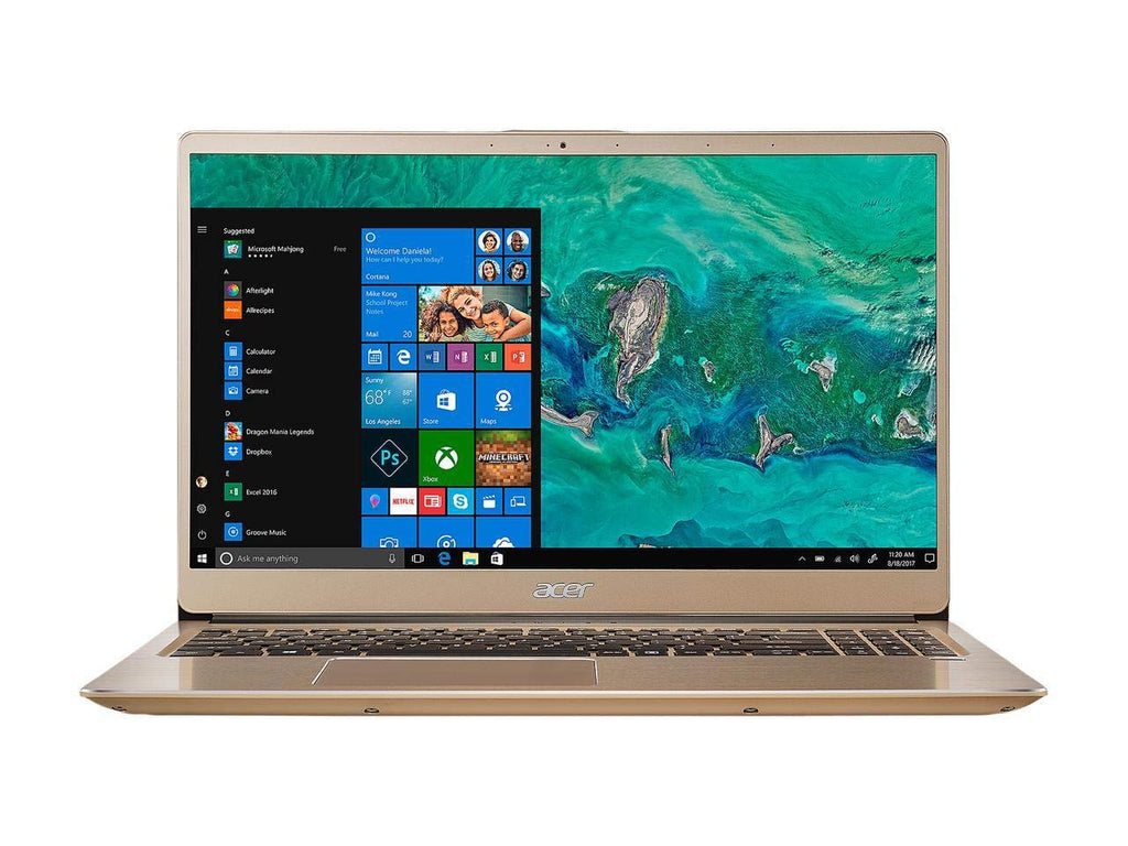 2019 Acer Swift 3 Premium Laptop | Intel Core i7-8550U Quad-Core Processor | 16GB Memory | 512G M.2 SSD | Intel UHD Graphics 620 | Backlit Keyboard | Fingerprint | Windows 10 Home | Gold