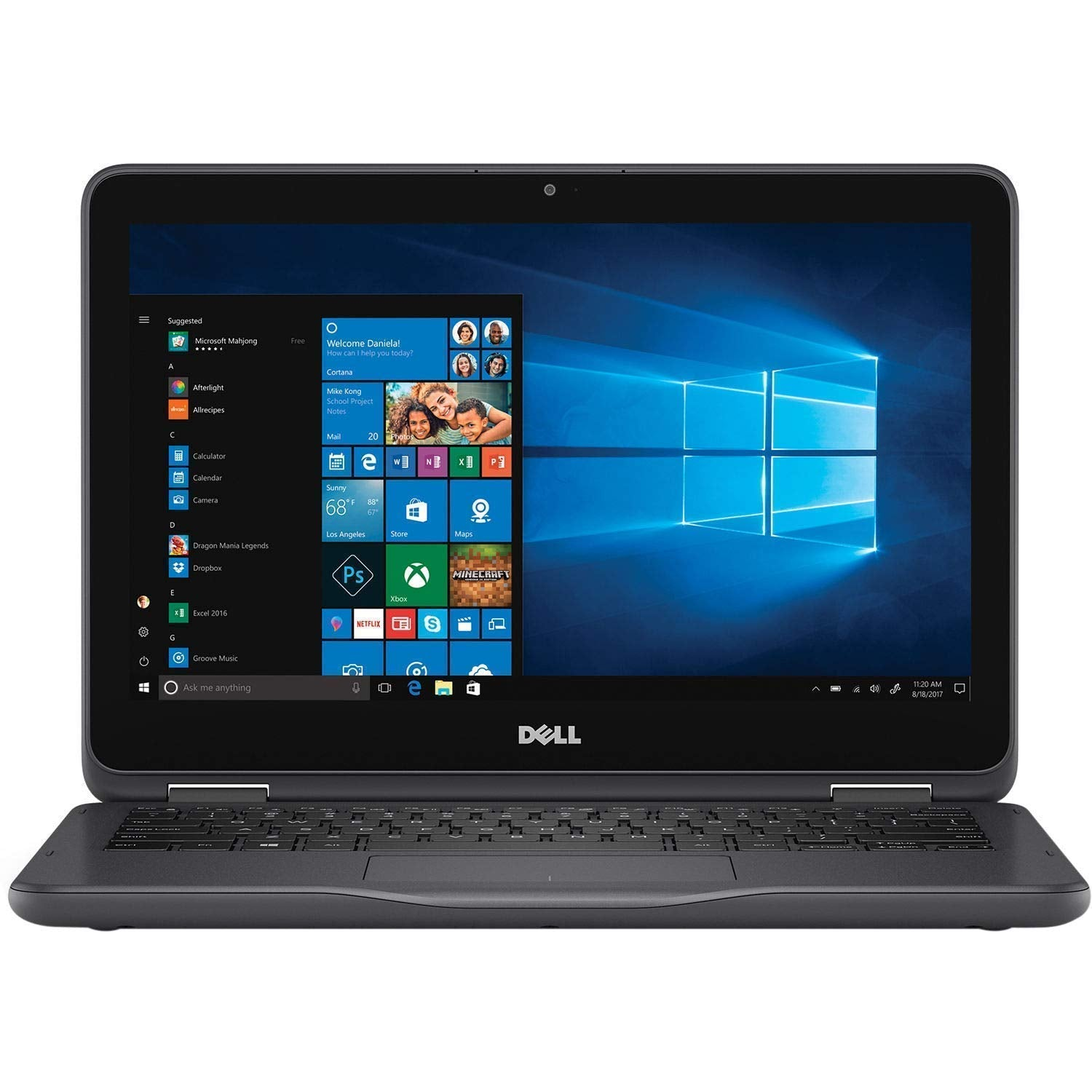 "Dell Inspiron 11.6 Laptop, Dell 11 3000 11.6"" HD Touchscreen 2-in-1 Premium 2019, AMD A9-9420e, 4GB DDR4, 500GB HDD, HDMI BT 4.0 WiFi USB 3.1 HD Webcam MaxxAudio Win 10"
