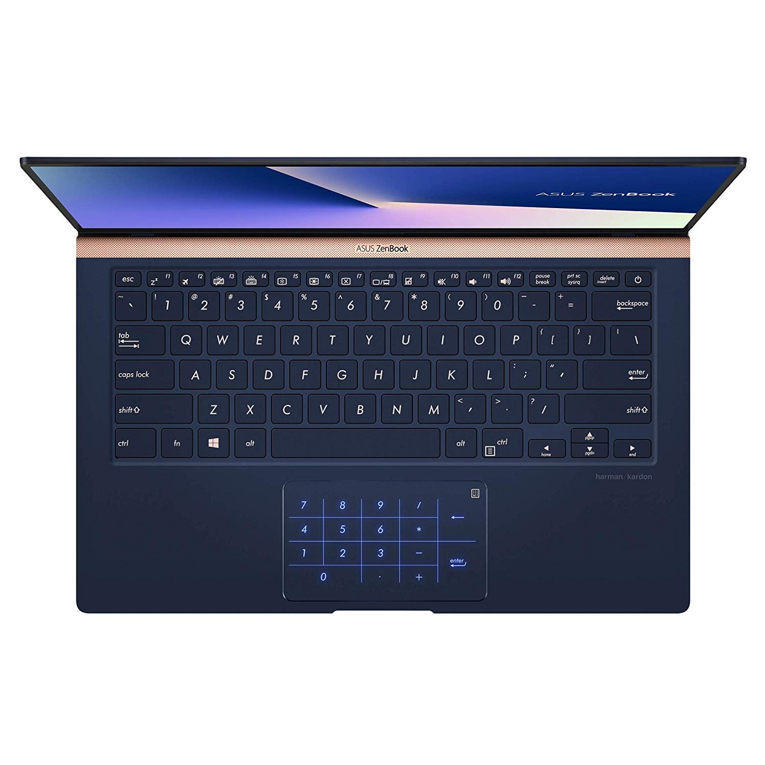 "ASUS ZenBook 14 Ultra-Slim Laptop 14"" Full HD 4-Way NanoEdge Bezel, 8th-Gen Intel Core i7-8565U Processor, 16GB LPDDR3, 512GB PCIe SSD, MX150, Numberpad, Windows 10 - UX433FN-IH74, Royal Blue"