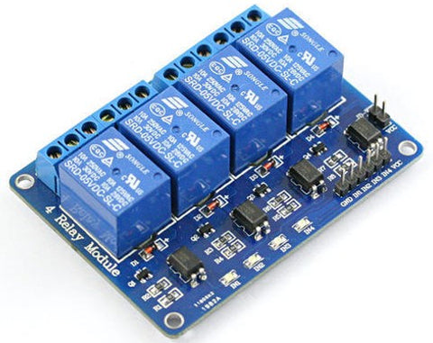 4 Channel Relay interface board, be able to control various appliances and other equipment with large current.