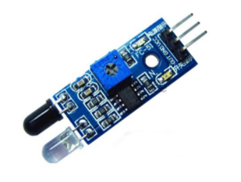 IR sensor is used for detecting hand