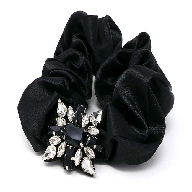 Luxe & Lace Bejeweled Scrunchie