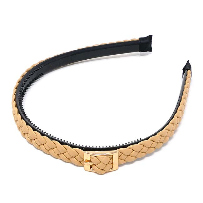 London Collection Braided Buckle Headband