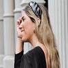 New York Collection Vegan Leather Knotted Headband - Black