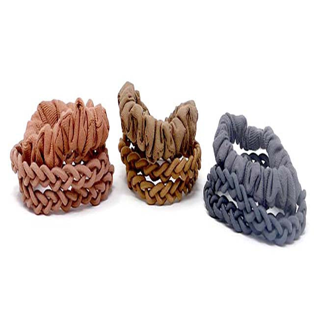 Leisure Collection Specialty Hair Tie Set