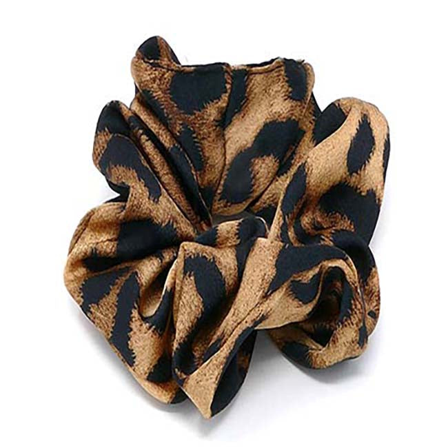 Safari Collection Leopard Scrunchie