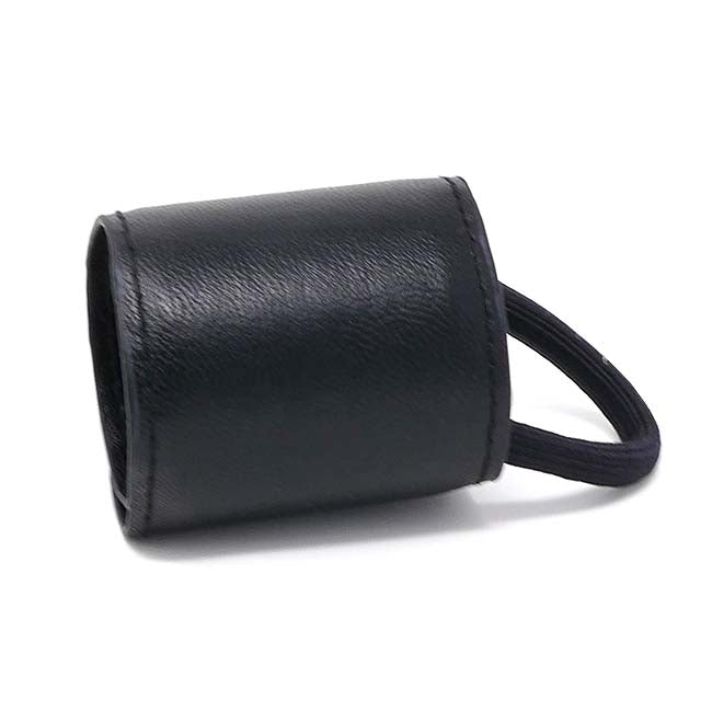 New York Collection Vegan Leather Pony Cuff - Black