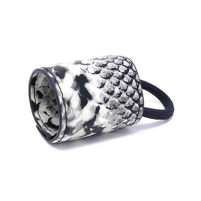 New York Collection Vegan Leather Pony Cuff - Snakeskin