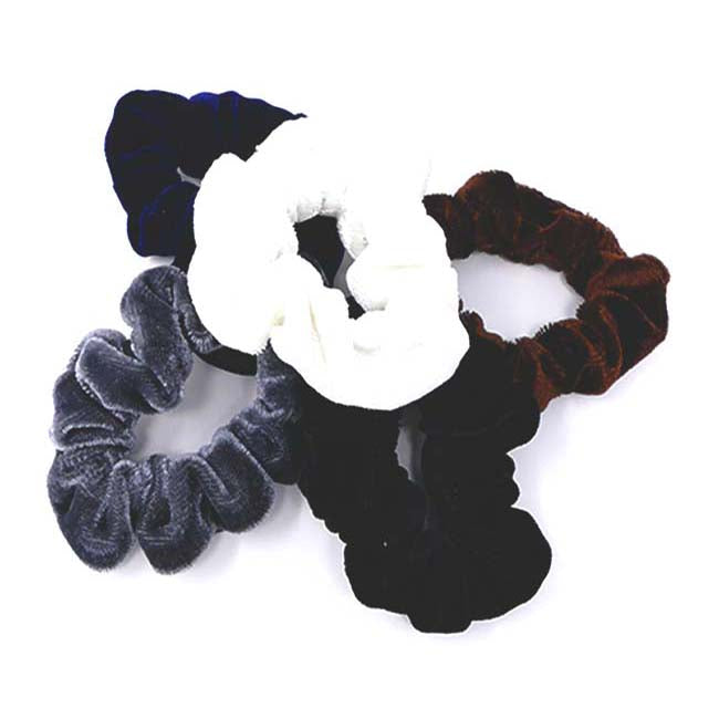 Bellebasics Velvet Mini Scrunchie Set