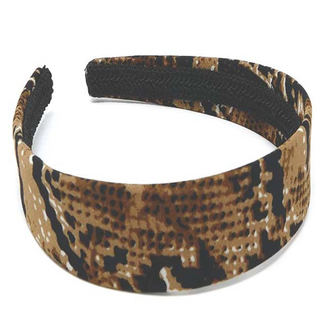 "Safari Collection Snakeskin 1"" Headband"