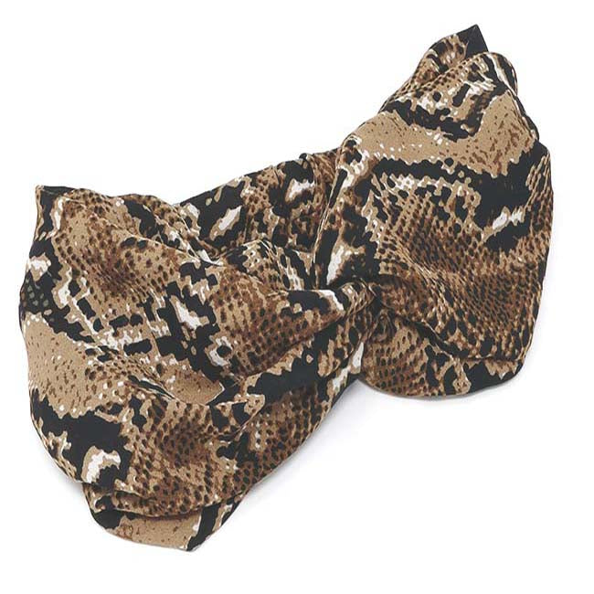 Safari Collection Snakeskin Turban Headwrap