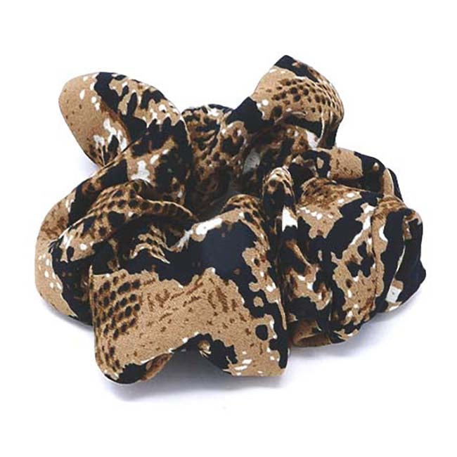 Safari Collection Snakeskin Scrunchie