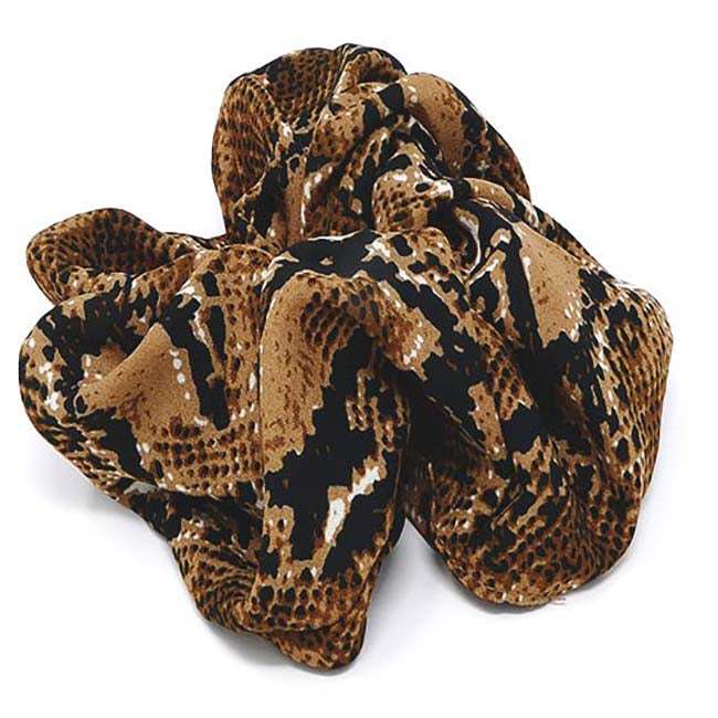 Safari Collection Snakeskin X-Large Scrunchie