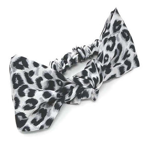 Safari Collection Snow Leopard Knotted Headwrap