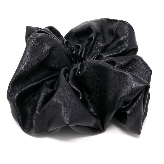 New York Collection Vegan Leather X-Large Scrunchie