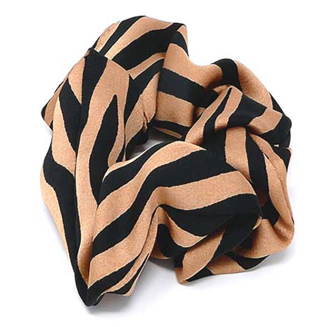 Safari Collection Zebra Print Scrunchie
