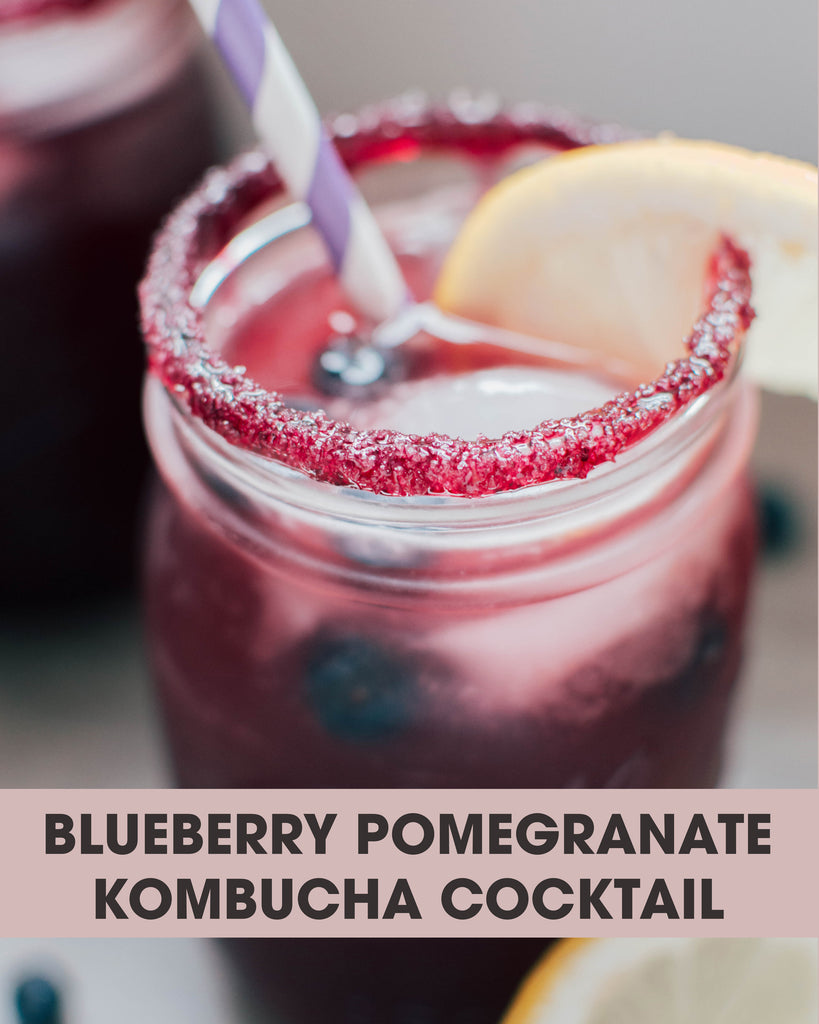 Cocktail Recipe: Blueberry Pomegranate Kombucha Cocktail