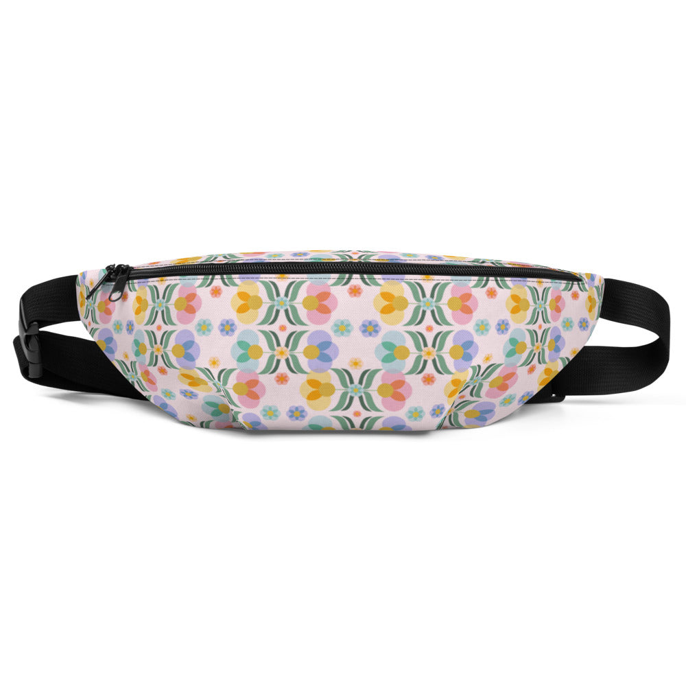 Mid Century Floral Fanny Pack