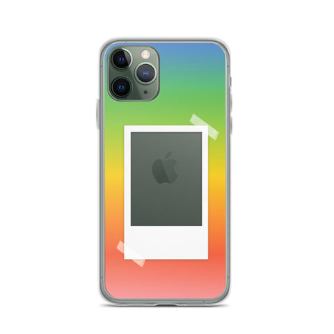 Rainbow Gradient with Polaroid Opening iPhone Case
